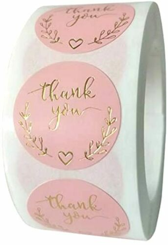 """30 THANK YOU FOR YOUR PURCHASE ENVELOPE SEALS LABELS STICKERS 1"""" ROUND FREE SHIP"""