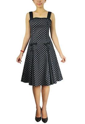 Plus Size Black and Polka Dot Pin Up Retro 50's Summer Dress 1X 2X 3X 4X