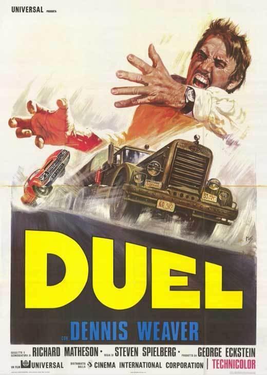 DUEL Movie POSTER 11x17 Italian Dennis Weaver Jacqueline Scott Eddie Firestone