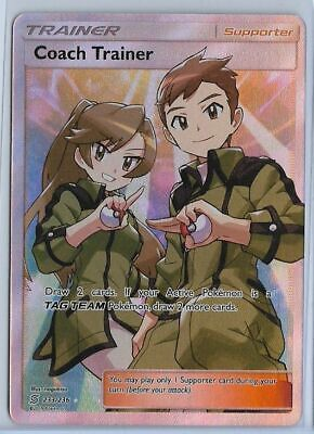 Pokemon - Coach Trainer - Unified Minds 233/236 - Full Art Holo Ultra Rare - NM