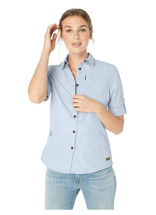 Solstice Apparel Women's Long Sleeve Travel Shirt, Cirrus Bl
