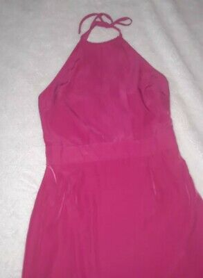 Banana Republic Halter Women Dress Size 8 Fuscia Party Gifts Summer Cocktail