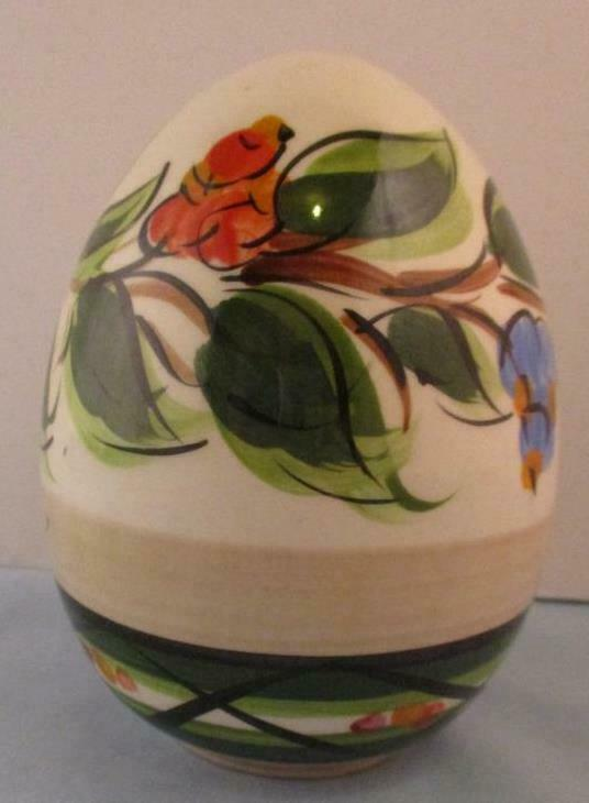 "RARE Hand Signed Gail Pittman Large Vivaldi  Egg 5"" Easter 1997 and 1999"