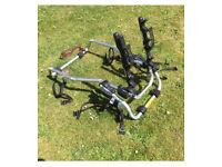 Bike rack for hatchback car