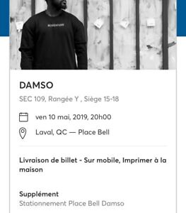 DAMSO ven. • 10 mai • 20h00, Place Bell