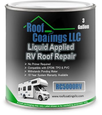 RC5000RV-3 3 Gallon  RV Roof Coating White for RV Roof Repair