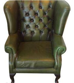 Green Sherlock Style Armchair