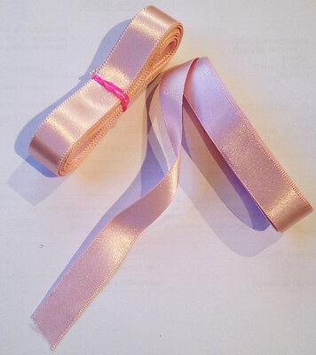 Pink Ballet Shoes Ribbon. Pale Pink/ Ballet Pink  2.5m length 15mm wide NEW! (Pale Pink Ribbon)