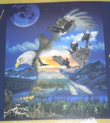 New Bald Eagle Lake Sherpa Gift Fleece Throw Blanket Southwest Eagles Moon Nest for sale  Colorado Springs