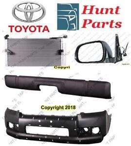 Toyota 4Runner 2014 2015 2016 2017 Front Rear Bumper Cover Bracket Absorber Lower Upper Ac Condenser Door Mirror