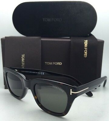 TOM FORD Sunglasses SNOWDON TF 237 52N 52-20 Havana Frame James Bond 007 SPECTRE