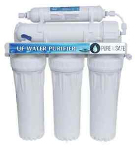Premium 5 Stages Undersink Water Filter System with 0.01 micron UF