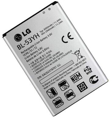 ORIGINAL LG Akku LG BL-53YH Accu für LG G3, 3000mAh Handy Batterie Battery
