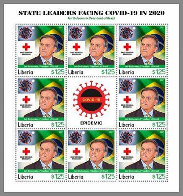 LIBERIA 2021 ** Jair Bolsonaro Pandemie Rotes Kreuz Red Cross #11-102c3C