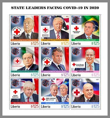 LIBERIA 2021 ** Staatsoberhäupter Pandemie Rotes Kreuz Red Cross #11-102aC