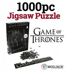 5PCS AVAILABLE - OFFICIAL GAME OF THRONES NED STARK ON THE IRON THRONE 1000 PIECES JIGSAW PUZZLE