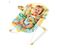 Bright Starts Sunnyside safari bouncer chair soothing vibration