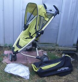 QUINNY ZAPP BUGGY STROLLER PRAM WITH RAINCOVER & CARRY BAG