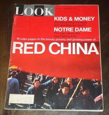 LOOK Magazine November 2, 1965, Red China 18 Color Pages, Notre Dame - November Coloring Pages