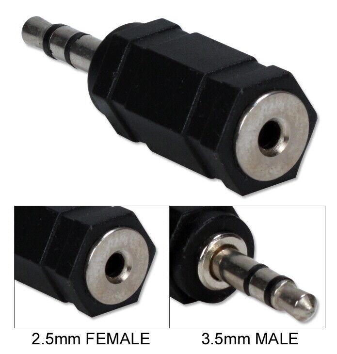 3.5mm Male to 2.5mm Female Mini-Stereo/Speaker Adaptor