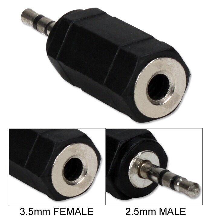 3.5mm Female to 2.5mm Male Mini-Stereo/Speaker Adaptor
