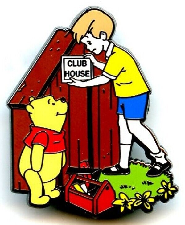 Willabee & Ward - Winnie the Pooh - Christopher Robin Builds a Club House Pin