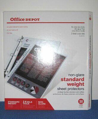Office Depot Sheet Protectors Item 491-703 Open Box