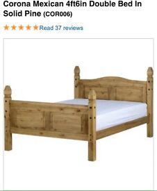 Corona bed with free mattress