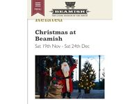 Beamish Xmas event - adult and 2 kids