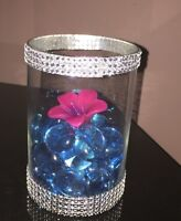 """4"""" round glass vases - for rent (25 available)"""