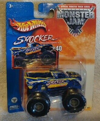 Hot Wheels 2003 Monster Jam 1:64 Shocker #40 with small hubs in package.