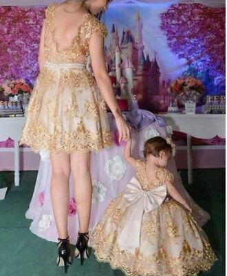 Short Sleeve Tutu - Baby Girl Toddler Party Tutu Dress Pageant Wedding Birthday Princess Christening