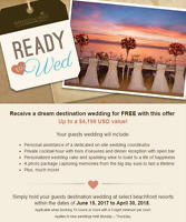 FREE Destination Wedding!