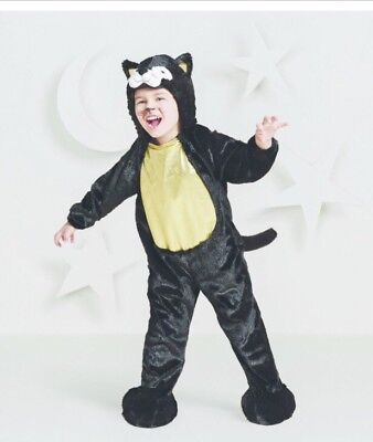 Black Cat Costume Toddler 18-24 Month Unisex Plush Fuzzy Dress Up Halloween NEW - Black Cat Halloween Costume Toddler