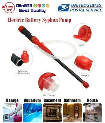 Battery Operated Siphon Oil Water Petrol Diesel Fuel Liquid Transfer Pump Pipe