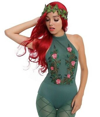 Embroidered Vines & Roses Green Mesh Body Suit Size Small (Green Ivy Kostüm)
