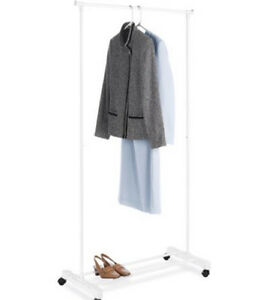 2 for 1 White Garment Rack for clothes and shoes
