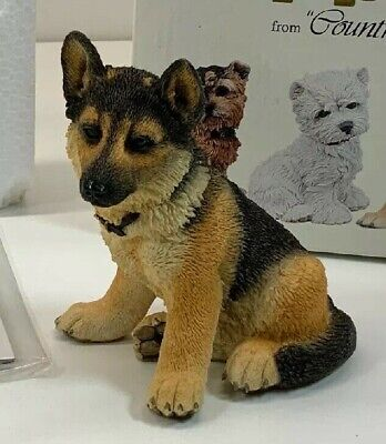 COUNTRY ARTISTS PUPPIES GERMAN SHEPHERD / ALSATIAN DOG FIGURINE PUPPY MODEL for sale  Shipping to Nigeria