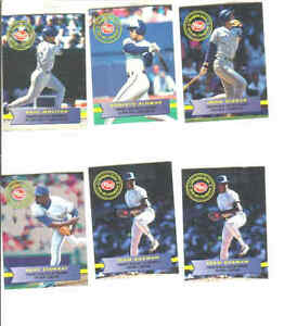 Blue Jays & others, 16 MLB cards 1994 Post Cereal Champion Serie