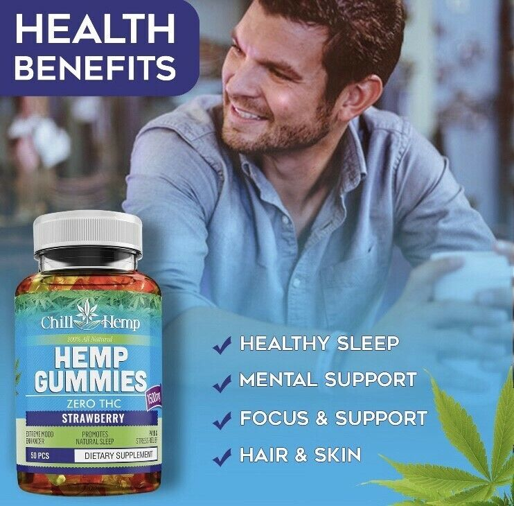 BOGO Free! Chill Gummies for Stress Relief - and Sleep ! -Great Taste! 50 pcs