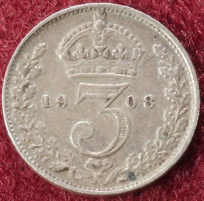GB Threepence 1908 (C2210)