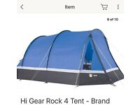 Hi Gear Rock 4 tent with accessories