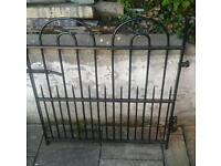 Strong garden gate.
