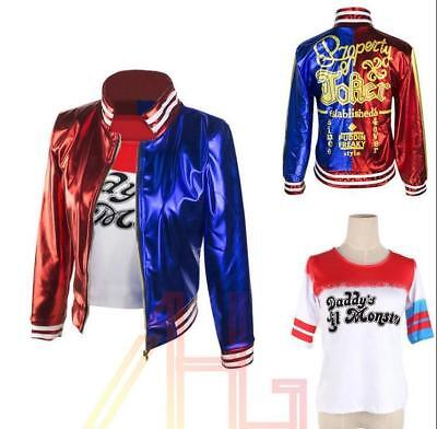 Harley Quinn Outfits (Halloween Cosplay Suicide Squad Jacket Harley Quinn Outfit Suit Kostüm jacke zr)