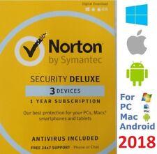 NORTON Security Deluxe 2018 3 Devices AntiVirus