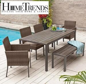 NEW* HOMETRENDS 6PC PATIO SET   130924159   Sedgwick 6 Piece Dining Set FURNITURE  PATIO