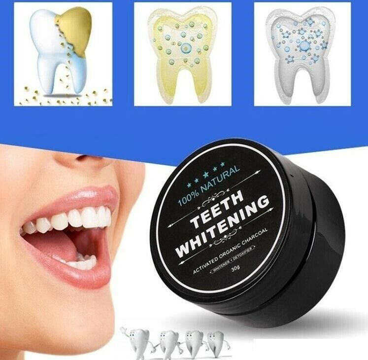100% Natural Teeth Whitening Powder Detoxifying Activated Charcoal Health & Beauty