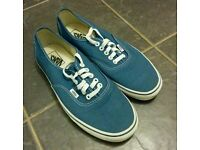 Vans size 9 shoes- blue.
