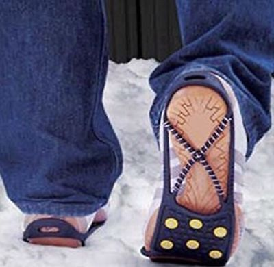 Ice and Snow Grip Grabbers For Shoes Boots Safety Soles Non Slip Overshoe Winter