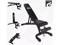 GYMANO weights bench. Fully adjustable. Flat, incline and decline.